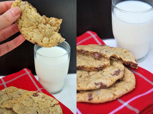 chocolate chip cookies mit haferflocken und zimt