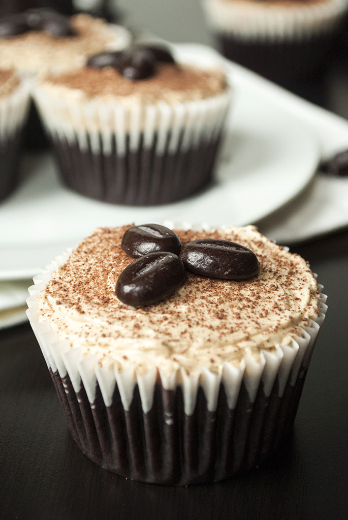 Schokoladen-Cupcakes mit Mokka-Buttercreme