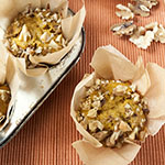 Kürbis-Gewürz-Muffins mit Walnuss-Streuseln