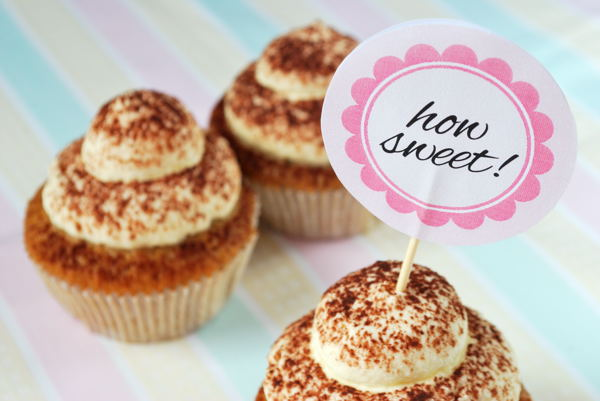 Download: Rosa Cupcake Topper how sweet