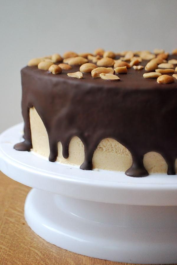Geburtstags-Bombe (a.k.a. Schoko-Erdnussbutter-Torte)