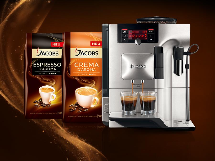 Gewinnspiel Bosch Kaffeevollautomat Jacobs