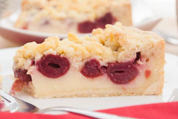 Kirsch Streuselkuchen Mit Pudding Fullung Kaffee Cupcakes