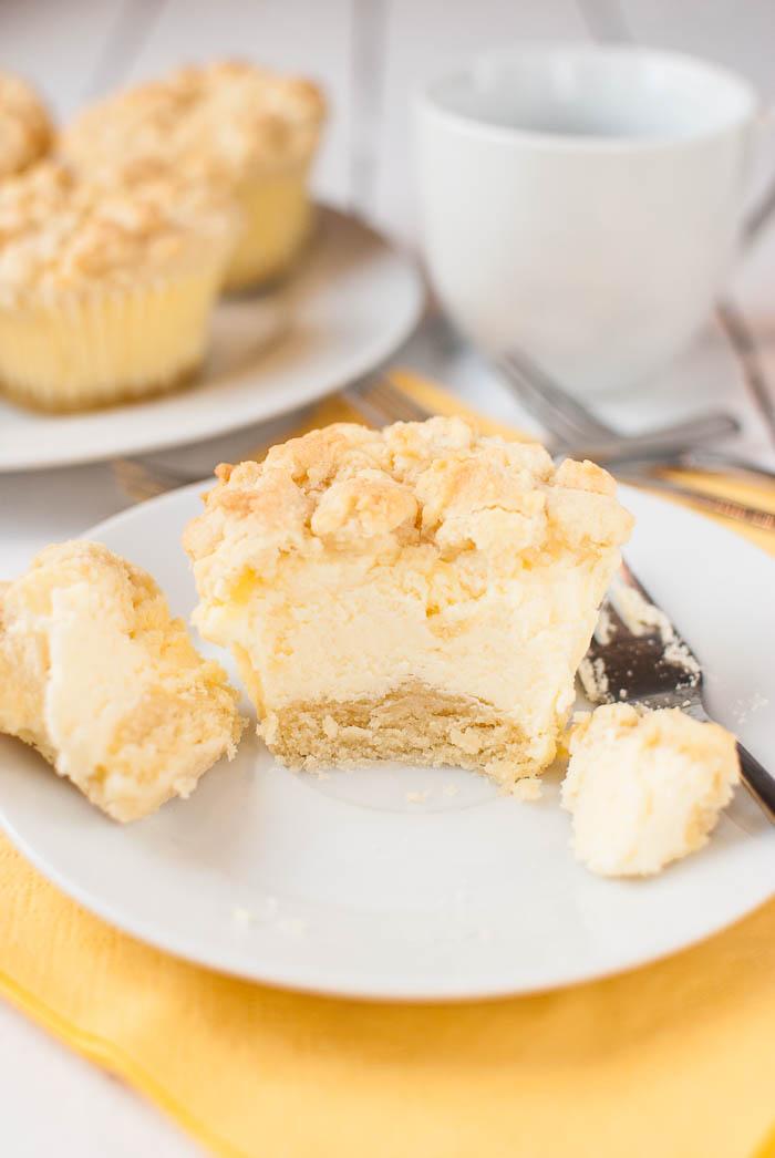 Kasekuchen Muffins Mit Streuseln Kaffee Cupcakes