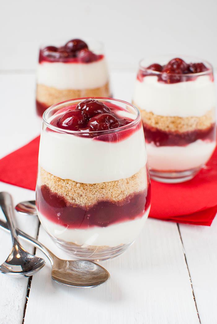 Kirsch Kasekuchen Dessert Im Glas Ohne Backen Kaffee Cupcakes