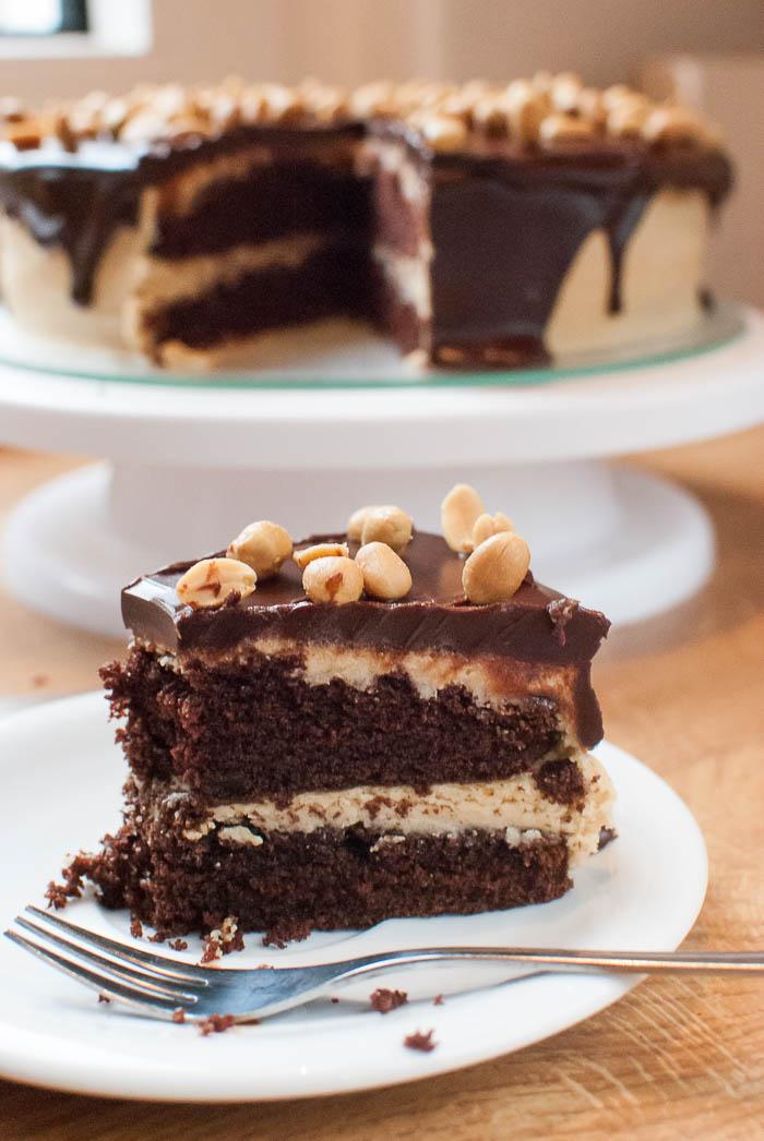 Schoko Erdnussbutter Torte Mit Schoko Glasur Rezept Kaffee