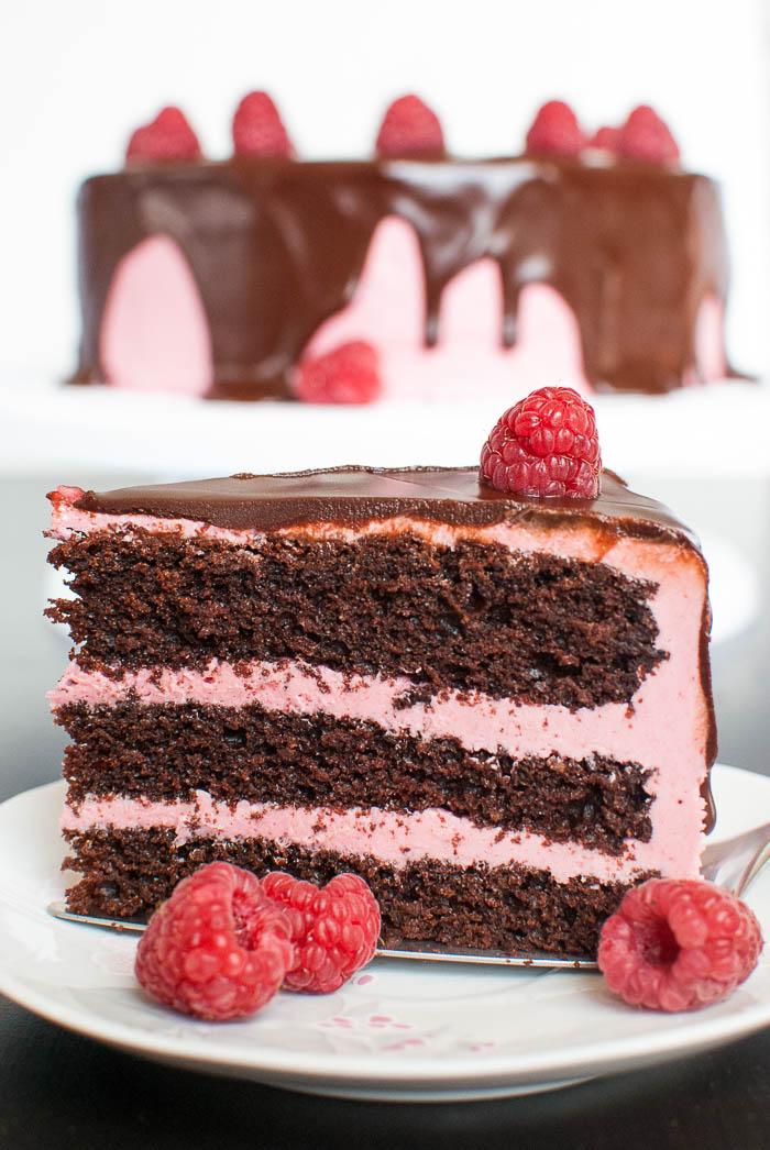 Schoko Himbeer Torte Mit Cremiger Ganache Kaffee Cupcakes