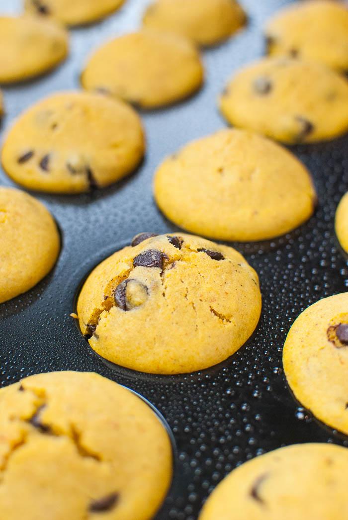Mini-Kürbis-Muffins mit Chocolate Chips