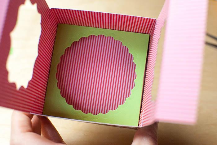 Bastelanleitung für offene Cupcake-Box