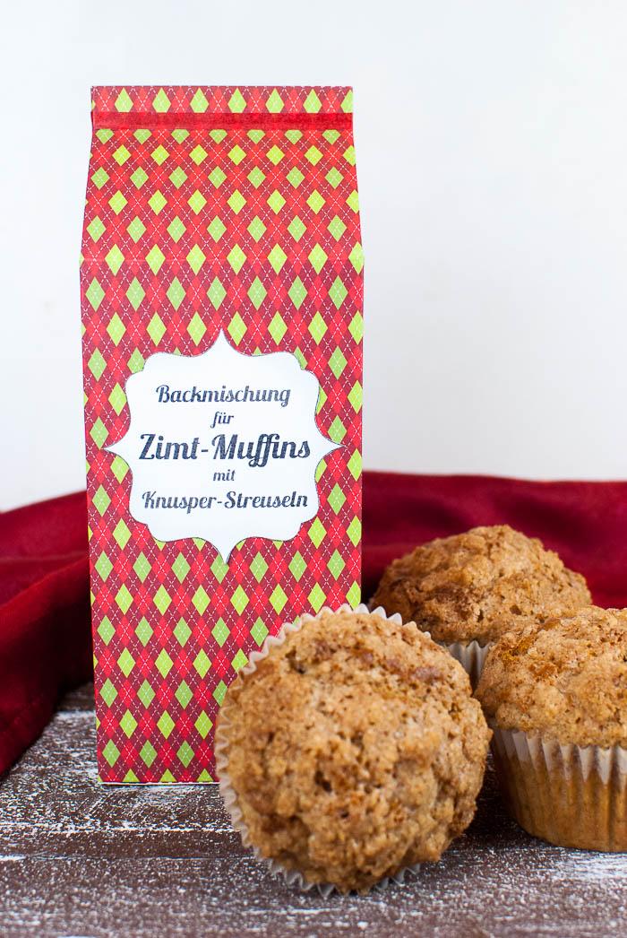 Backmischung für Zimt-Muffins mit Knusper-Streuseln