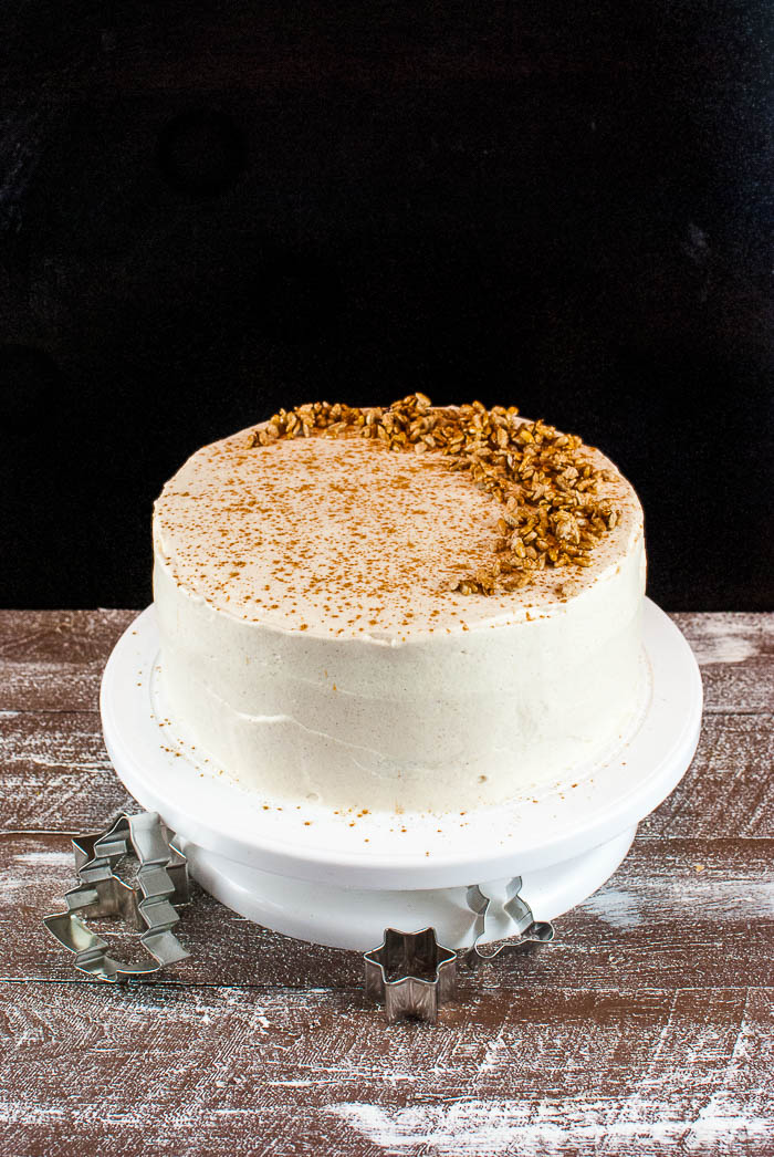 lebkuchen torte mit zimt sahne creme und gebrannten sonnenblumenkernen kaffee cupcakes. Black Bedroom Furniture Sets. Home Design Ideas