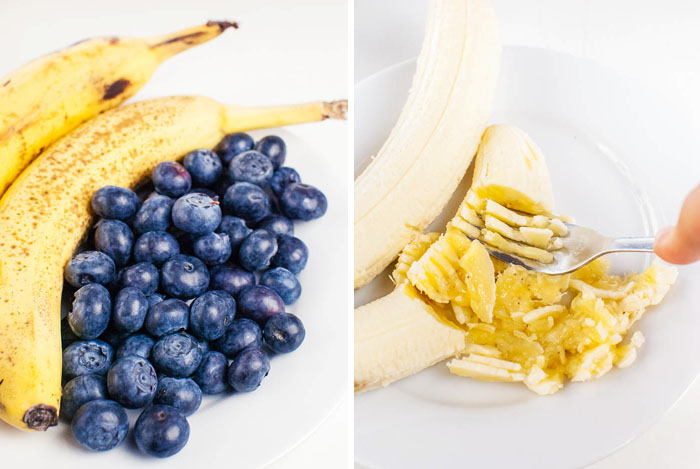 Veganes Heidelbeer-Bananenbrot mit Vollkornmehl
