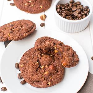 Espresso-Haselnuss-Cookies