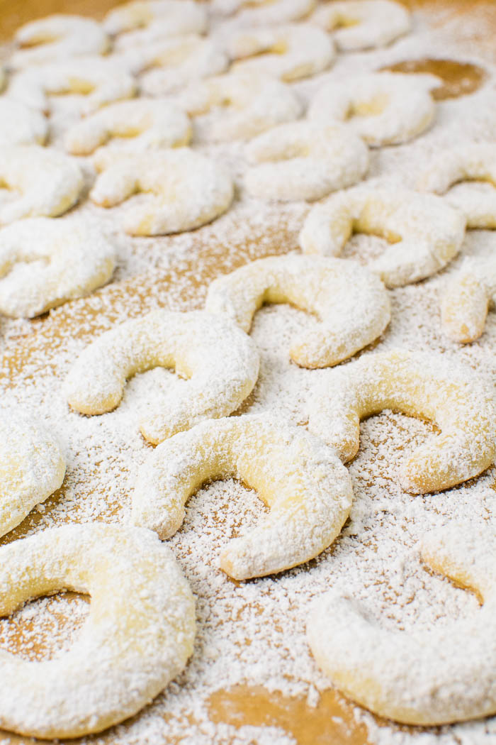 Vegane Vanillekipferl mit Mandeln