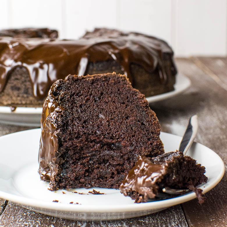 schokoladenkuchen mit nutella glasur