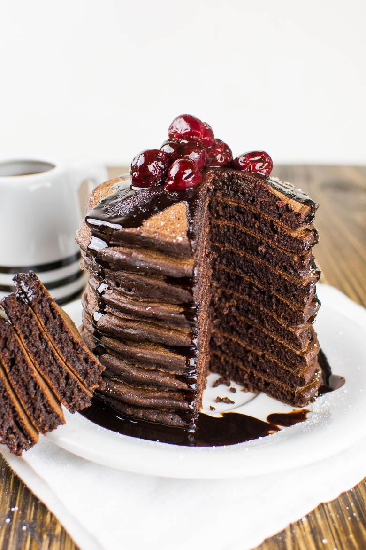 Die perfekten Schoko-Pancakes: super fluffig und vegan