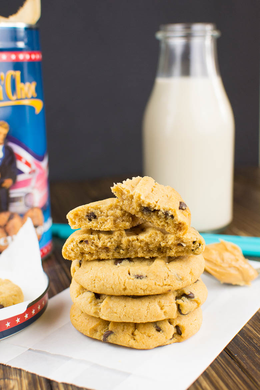 Erdnussbutter-Cookies mit Chocolate Chips {soft und chewy, vegan}