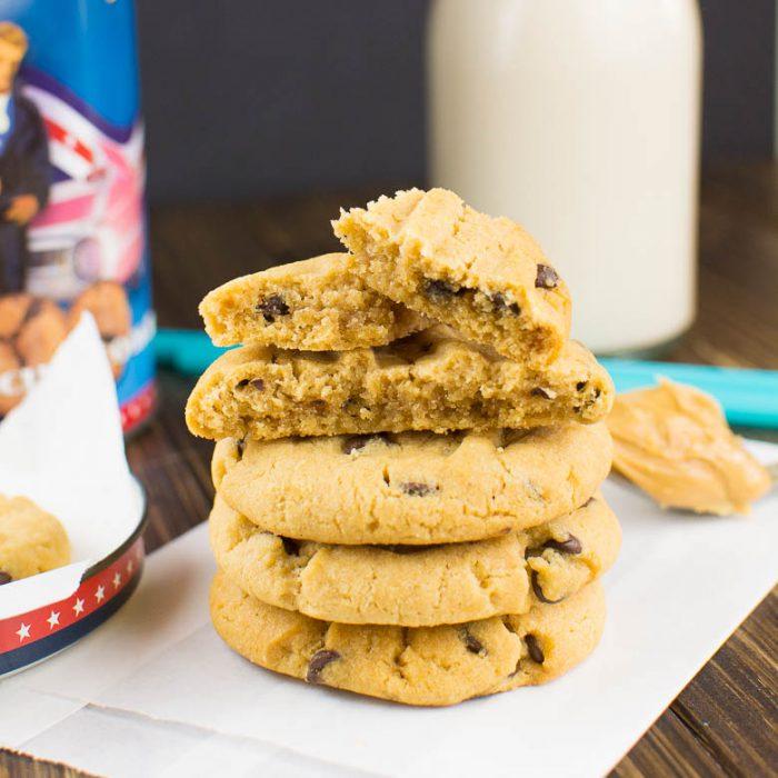 Erdnussbutter-Cookies mit Chocolate Chips