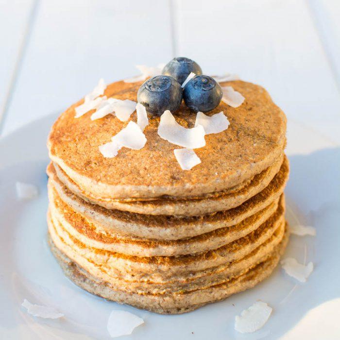 Saftige Haferflocken-Pancakes