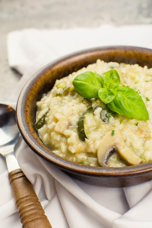 Veganes Zucchini-Pilz-Risotto (Instant Pot Rezept)