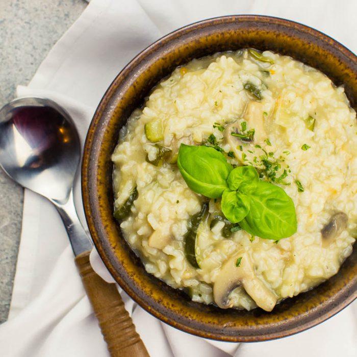 Einfaches Zucchini-Pilz-Risotto (Instant Pot Rezept)