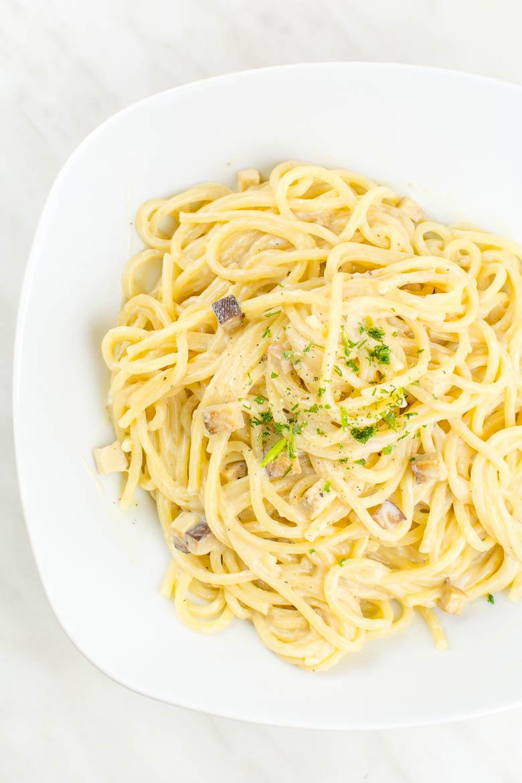 Vegane Spaghetti alla Carbonara in 20 Minuten