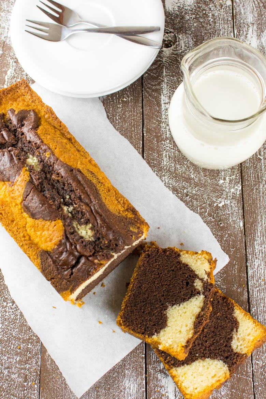 Perfekter veganer Marmorkuchen