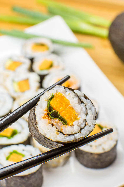 Veganes Sushi mit Süßkartoffel