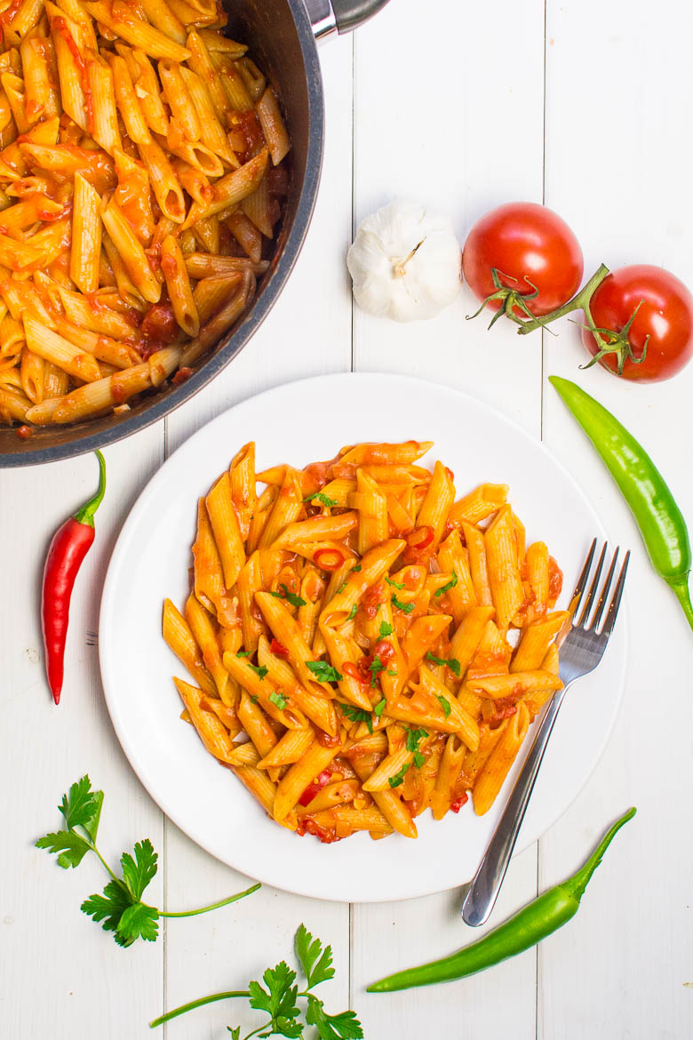 One Pot Pasta all'arrabbiata