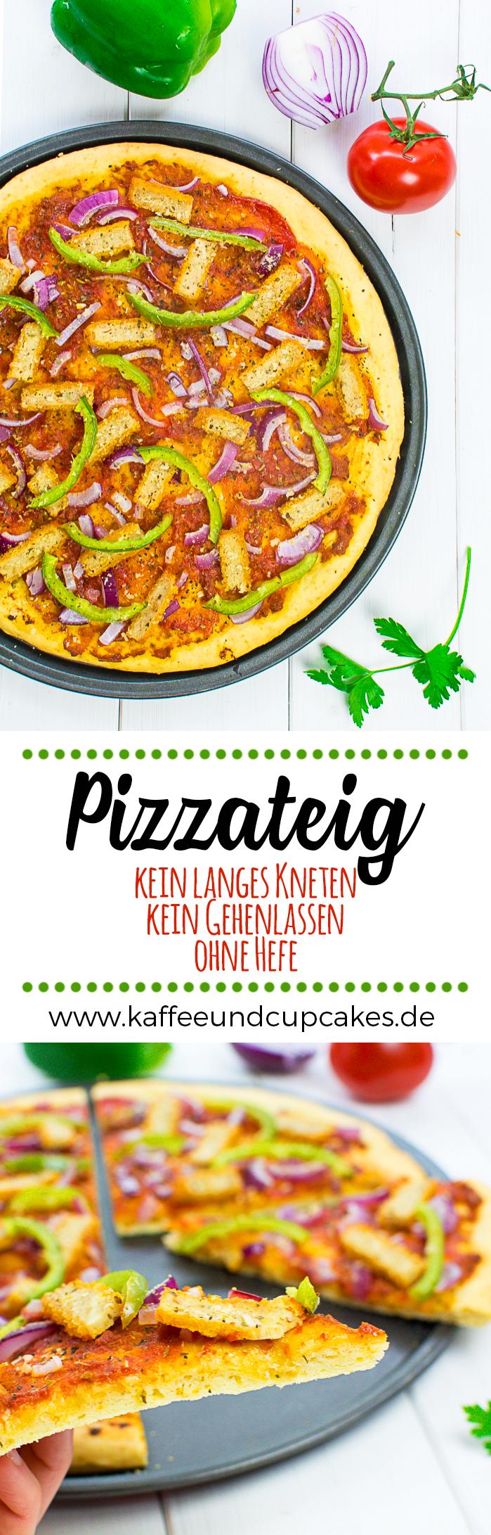 Einfacher, schneller Pizzateig ohne Hefe (kein langes Kneten, kein Gehenlassen)