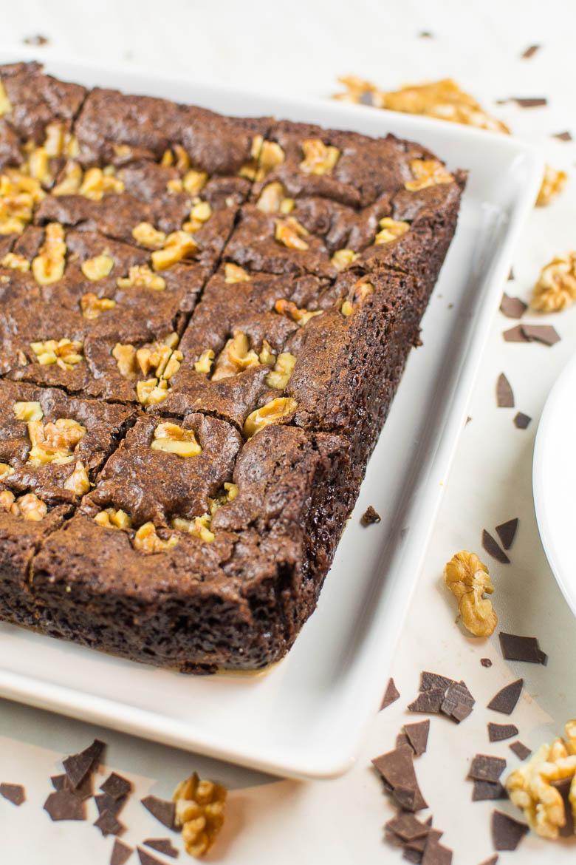 Perfekte vegane Brownies: saftig und schokoladig