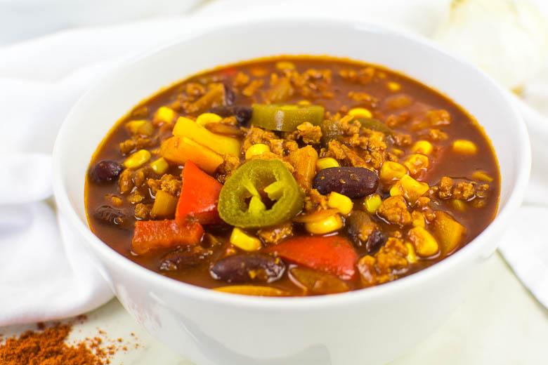 Veganes Chili mit Soja-Granulat (Chili sin Carne)