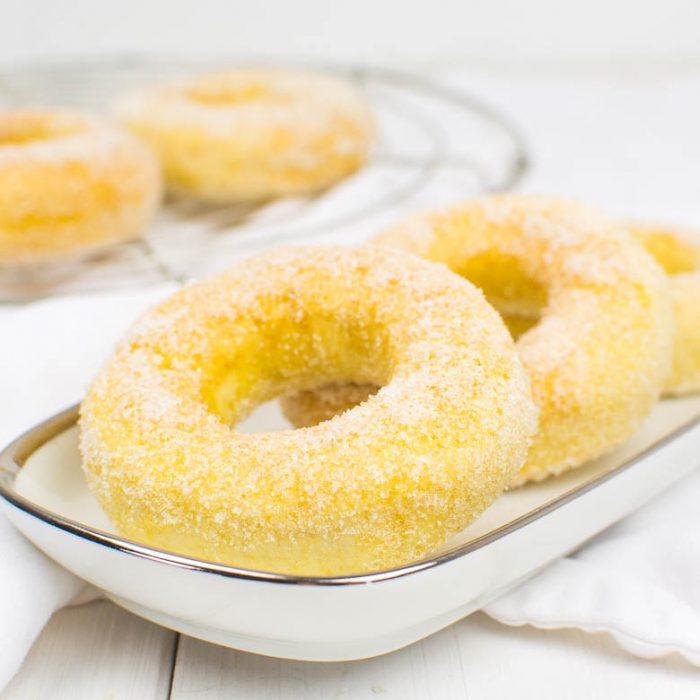 Vegane Quark-Öl-Teig-Donuts aus der Heißluftfritteuse