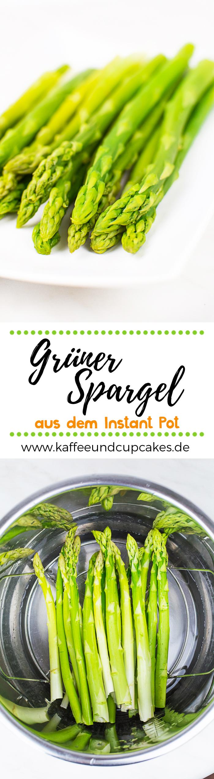 Kochen mit dem Instant Pot: Grüner Spargel
