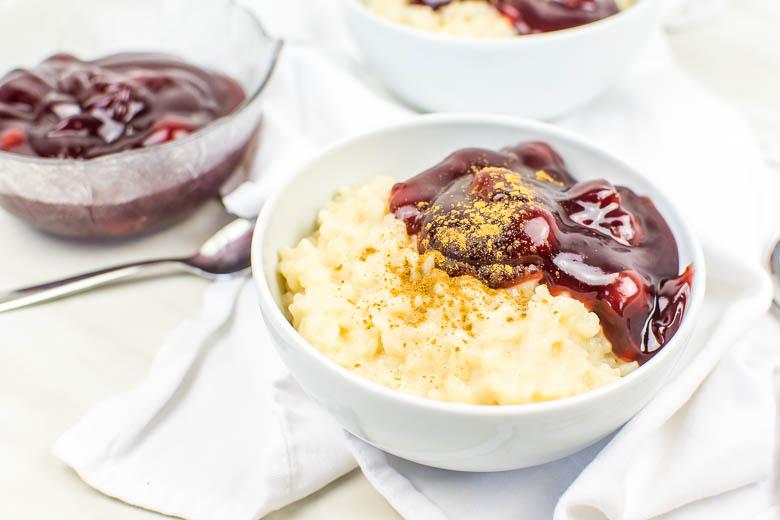 Veganer Milchreis mit Hafermilch (Instant Pot)