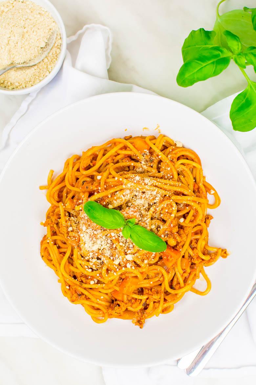 One Pot Pasta Soja-Bolognese (vegan)