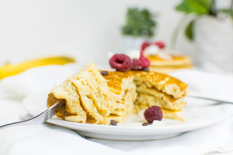 Einfache vegane Pancakes aus nur 5 Zutaten (Grundrezept)