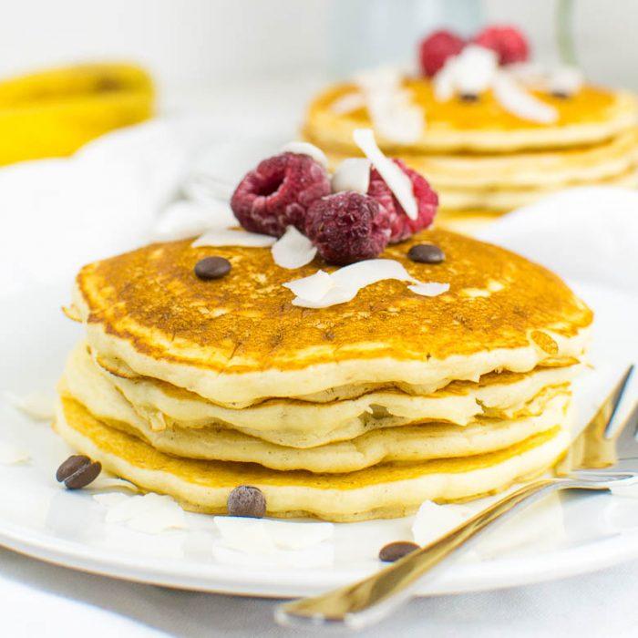 Einfache vegane Pancakes aus nur 5 Zutaten