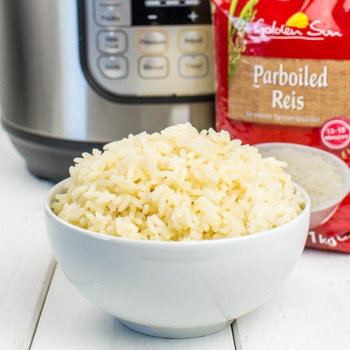 Parboiled Reis aus dem Instant Pot