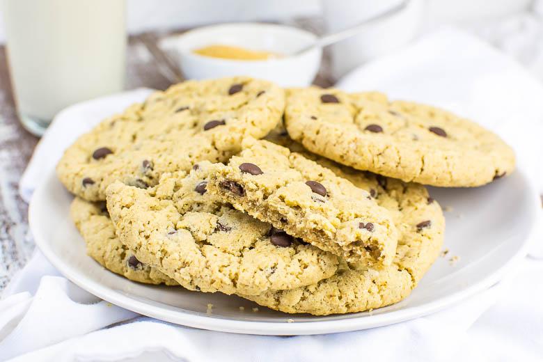 Vegane Haferflocken-Cookies mit Chocolate Chips