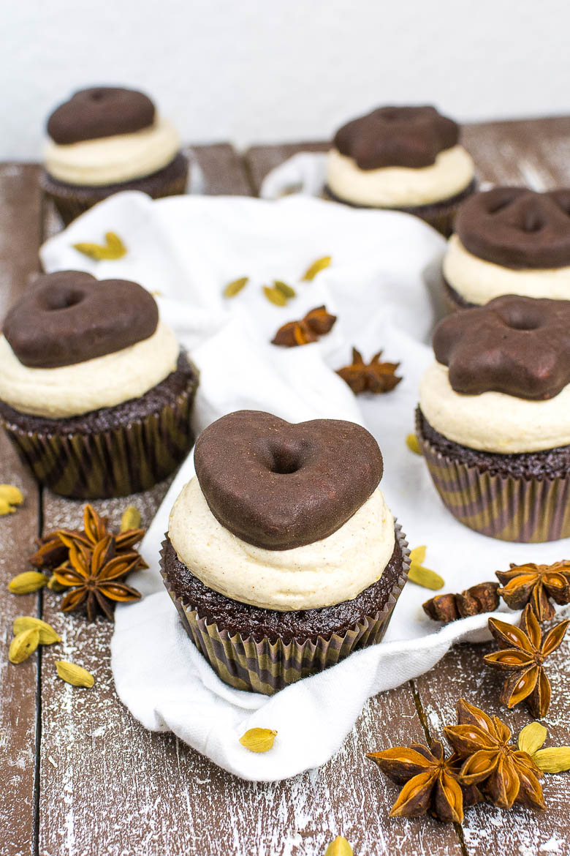 Vegane Lebkuchen-Cupcakes