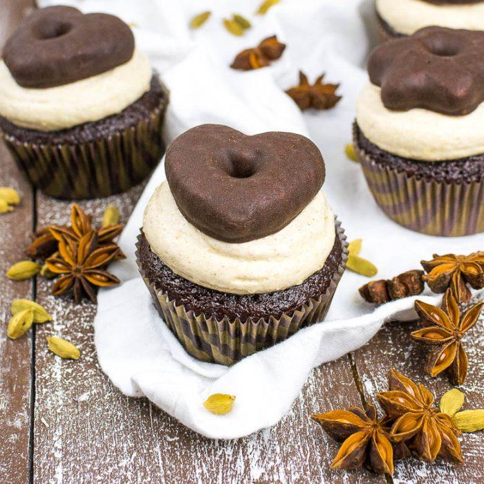 Vegane Lebkuchen Cupcakes Kaffee Cupcakes