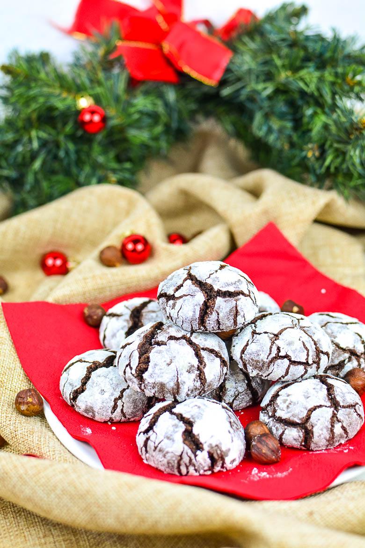 Vegane Crinkle Cookies (Brotlaibe)