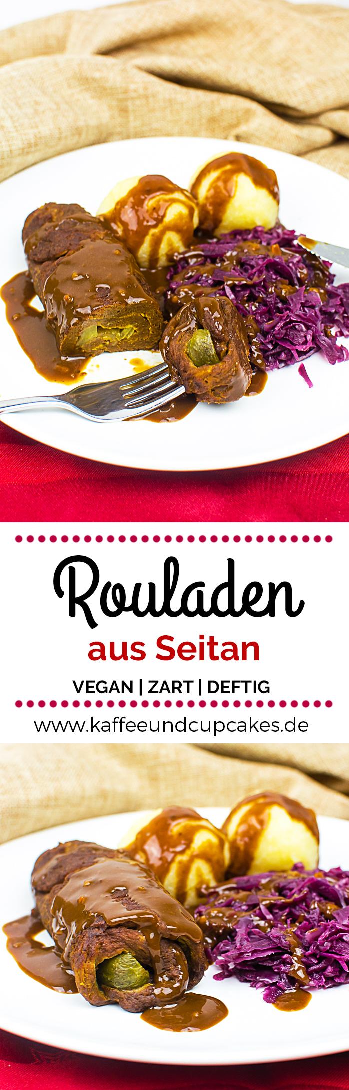 Zarte vegane Rouladen aus Seitan | Kaffee & Cupcakes #vegan #vegetarisch #seitan