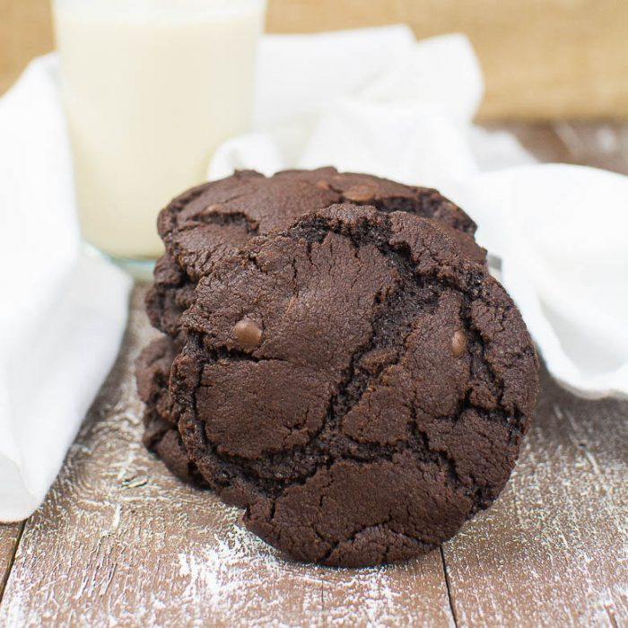 Perfekte vegane Double Chocolate Cookies